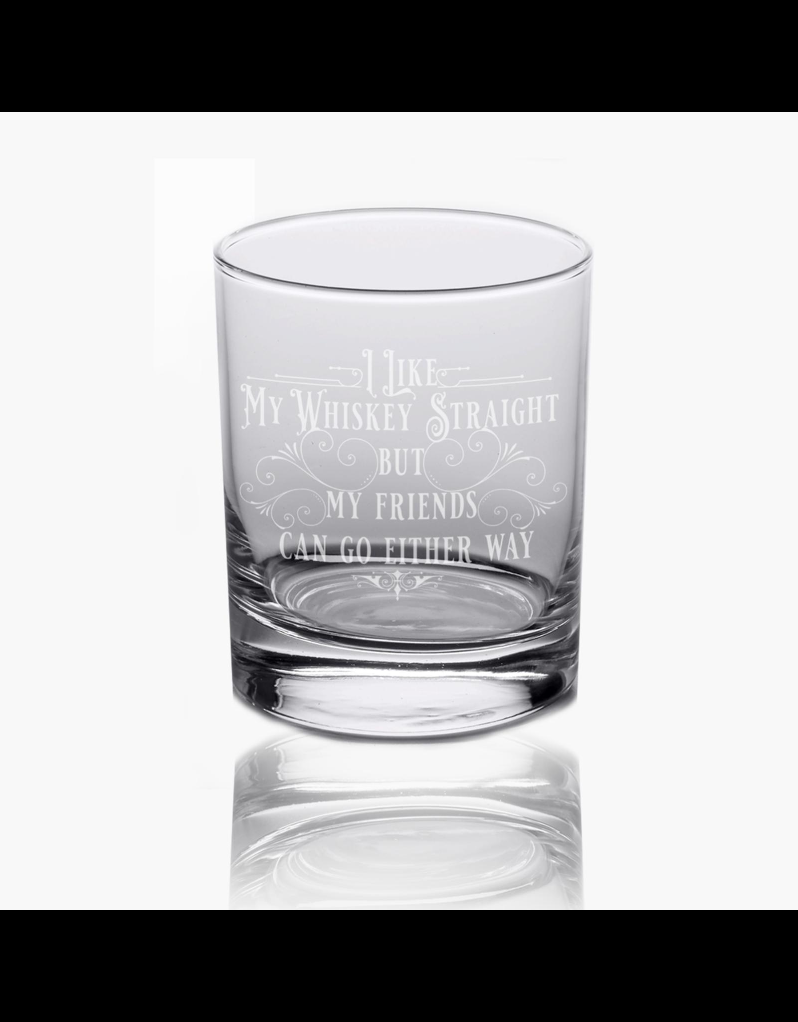Calm Down Caren Rocks Glass - I Like My Whiskey Straight But My Friends