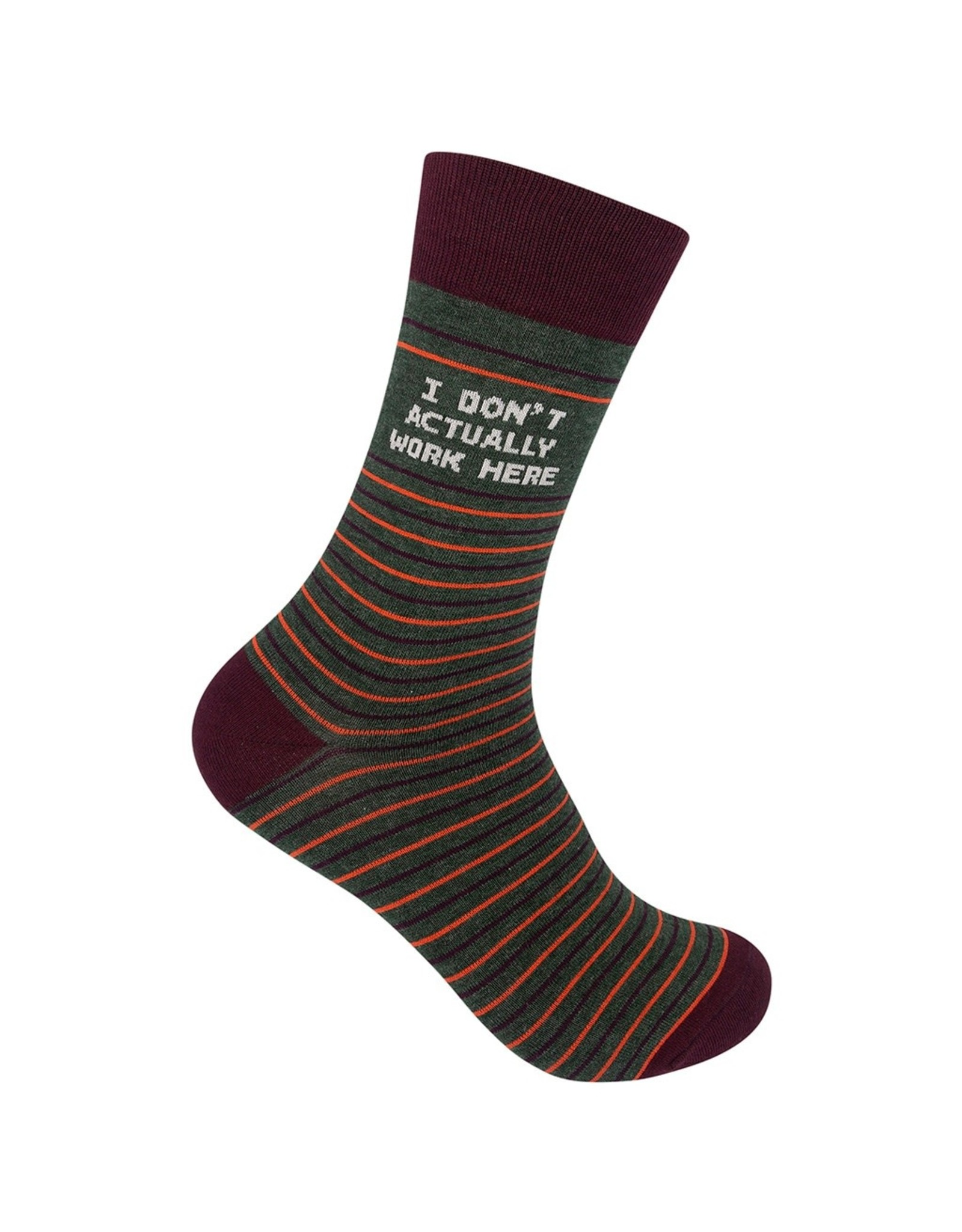 Socks (Unisex) - I Don't Actually Work Here