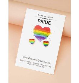 Earrings - Pride Rainbow Hearts
