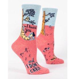 Socks (Womens)  - I Heard You, I Don't Care