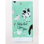 Dish Towel (Premium) - Holy Shit I Love You - Animals