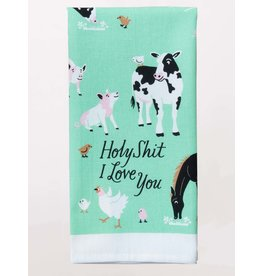 Dish Towel (Premium) - Holy Shit I Love You - Animals