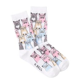 Socks (Womens) - Cats In Glasses