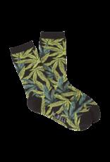 Socks (Womens) Pot Leaf Detail