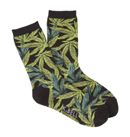 Socks (Womens) Pot Leaf Detail