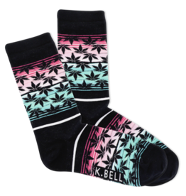 Socks (Womens) Pot Leaf Sunset