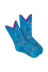 Socks (Kids) - Wide Mouth Fish (Blue)