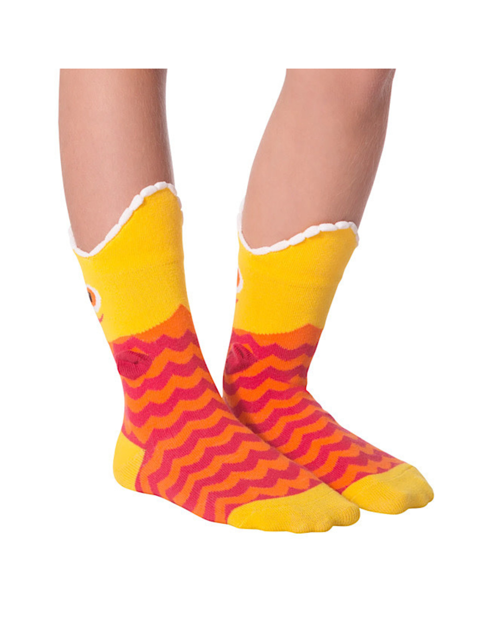 Socks (Kids) - Wide Mouth Fish (Yellow)