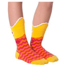 Socks (Kids) - Wide Mouth Fish (Yellow)