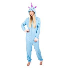Onesie (Adult) Blue Unicorn - XL