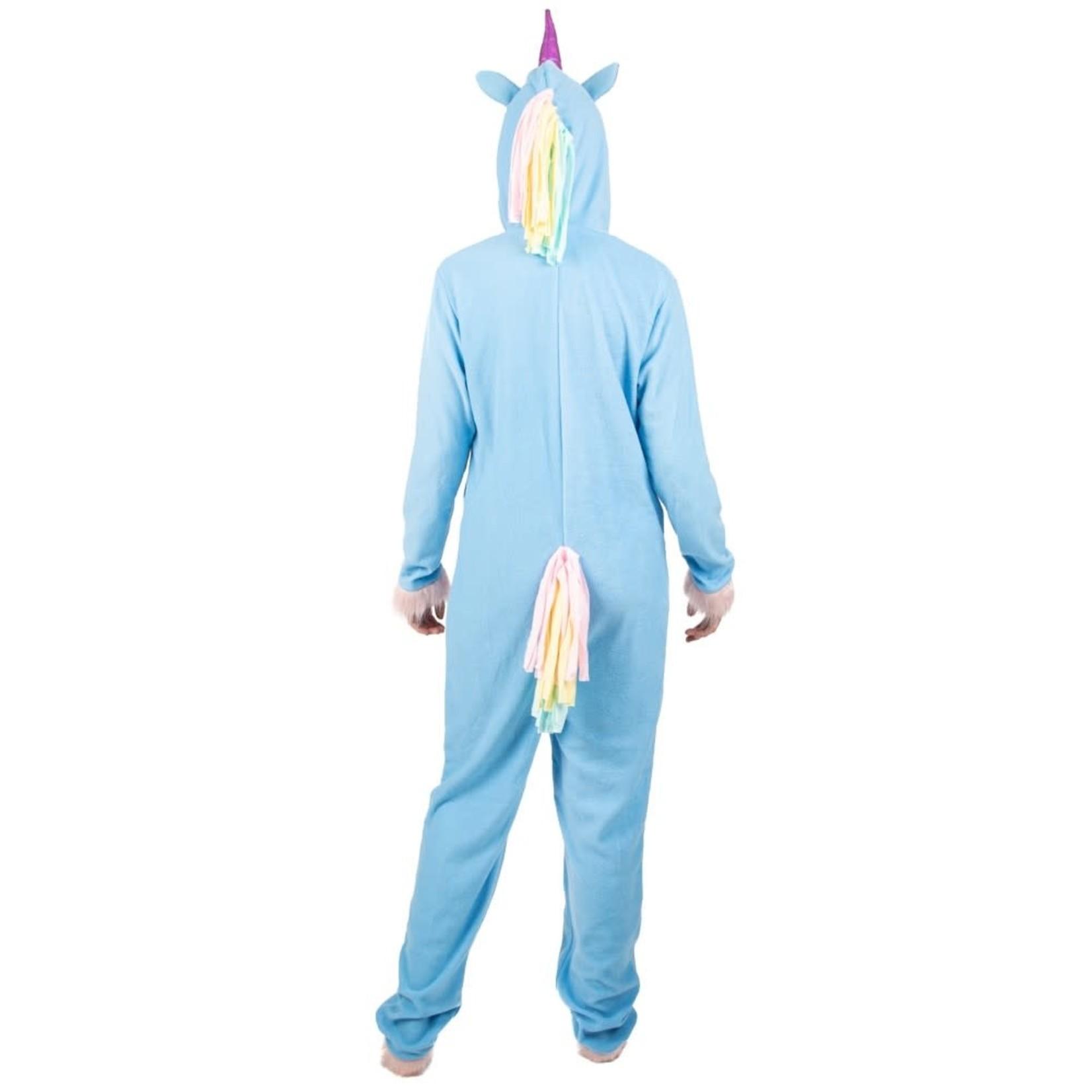 Onesie (Adult) Blue Unicorn - Large