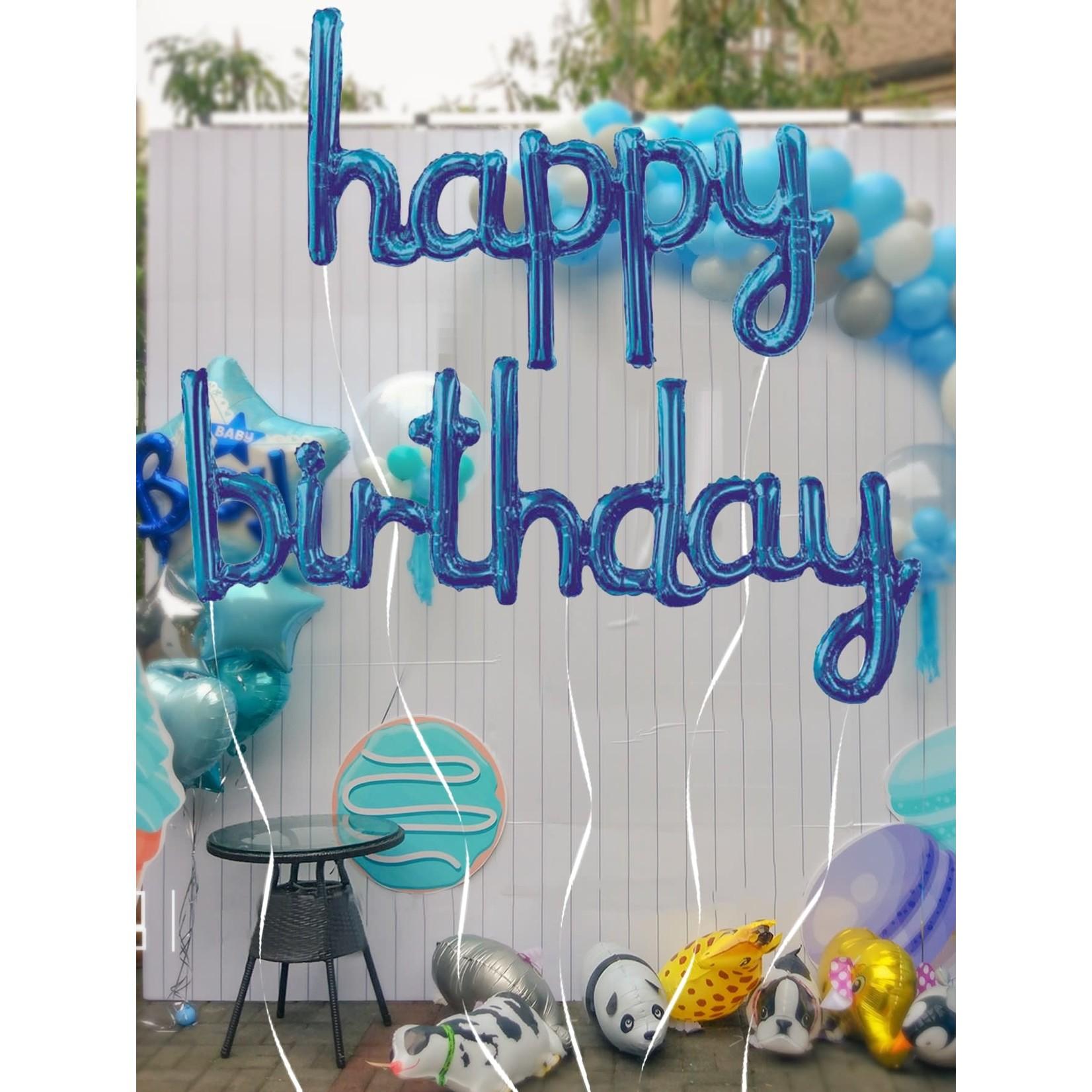 Balloons - Happy Birthday - Blue Set