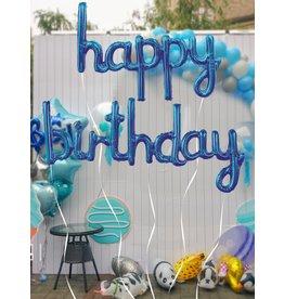 Shein Balloons - Happy Birthday - Blue Set