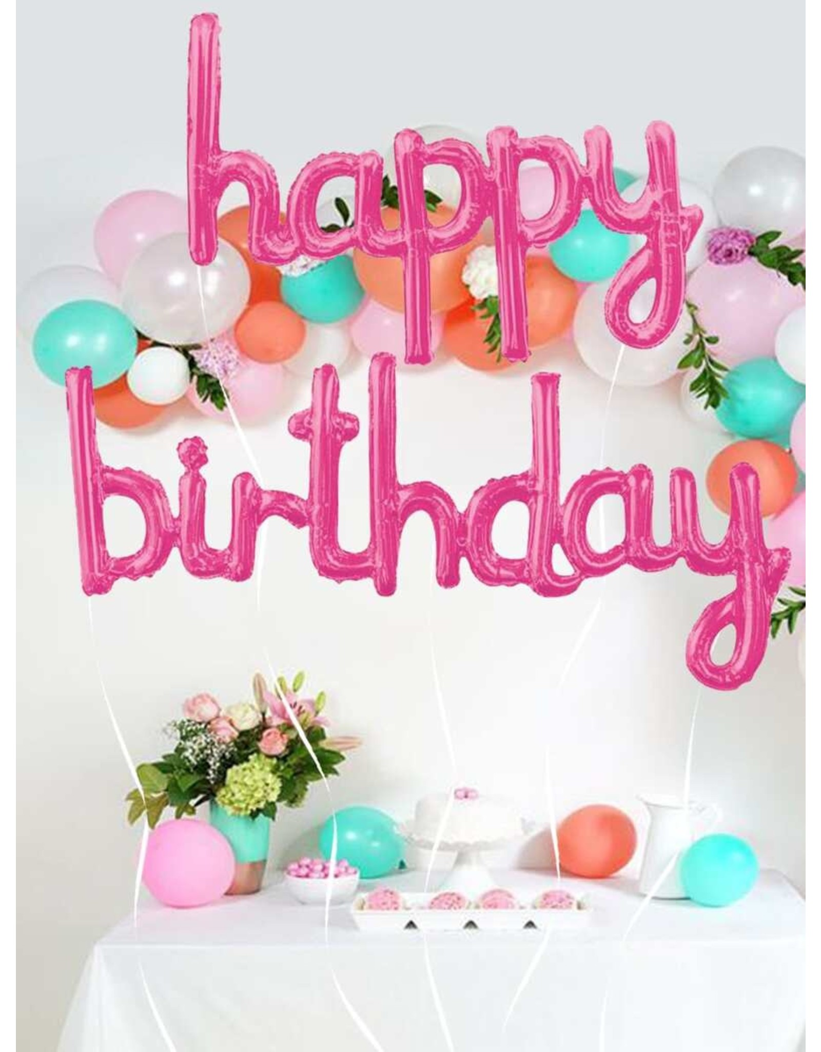 Shein Balloons - Happy Birthday - Fuchsia Set