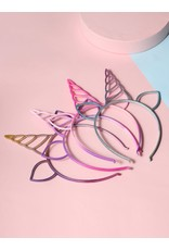 Shein Headband - One Unicorn Ear And Horn Band (Various Colors)