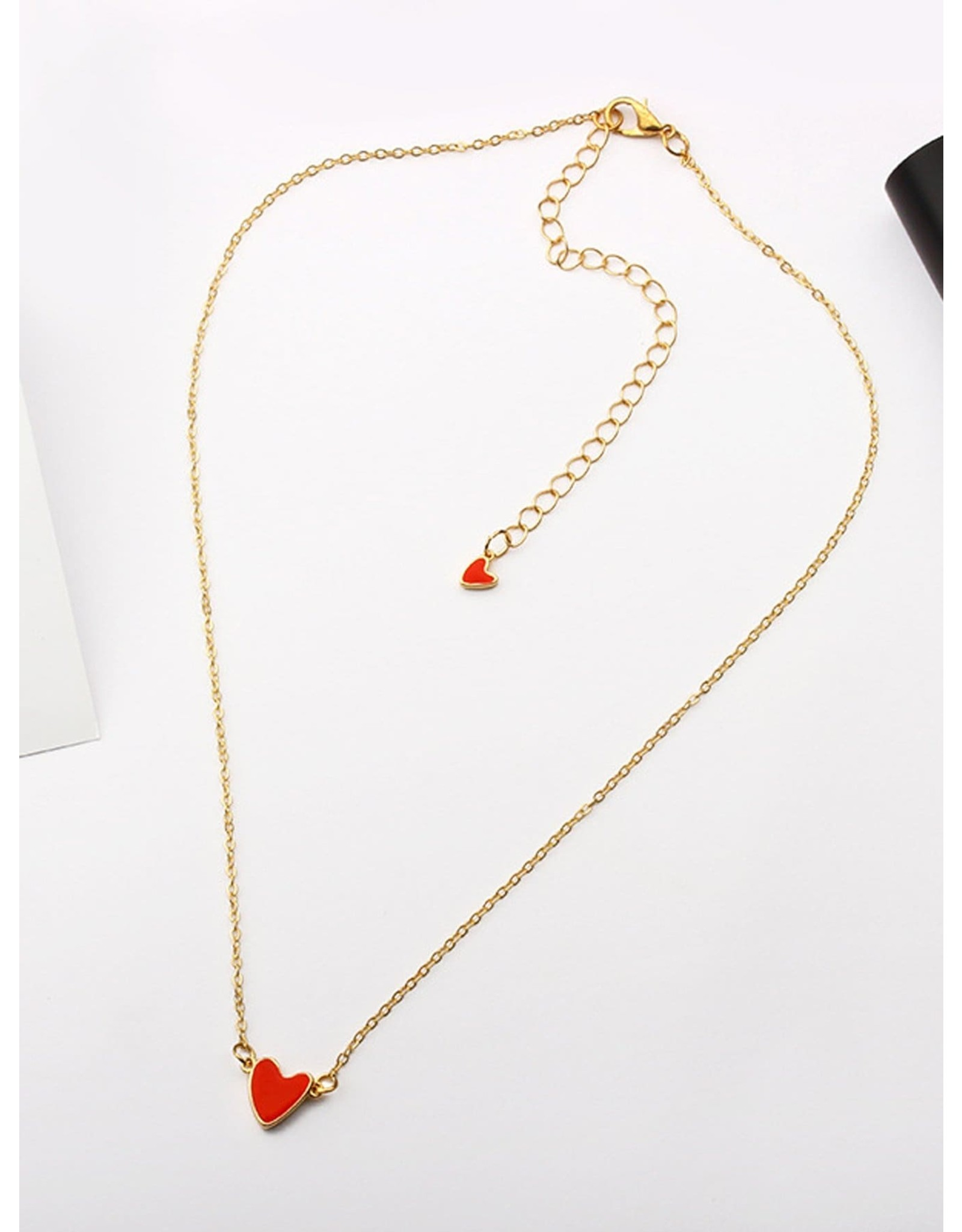 Shein Necklace - Tiny Red Heart