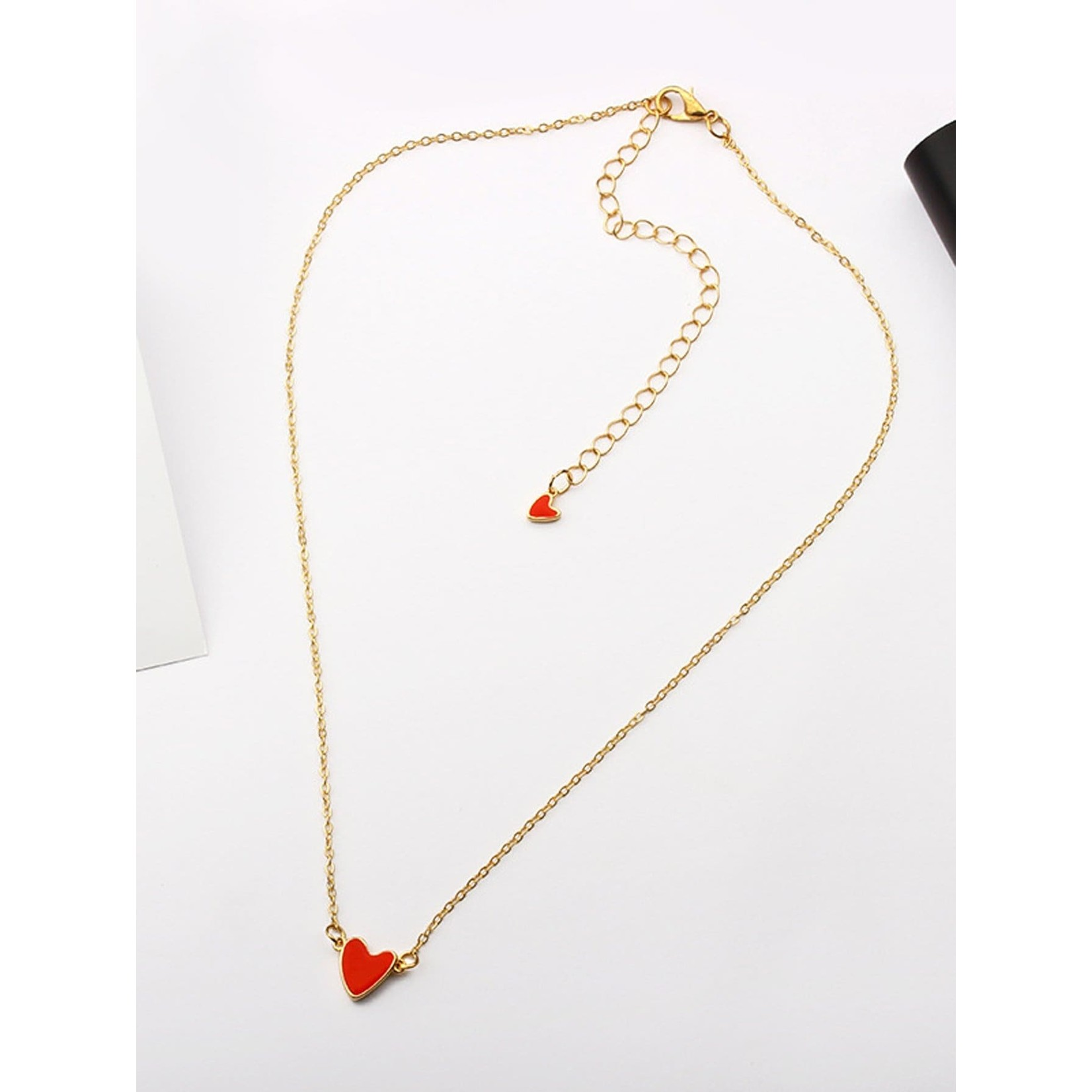 Necklace - Tiny Red Heart