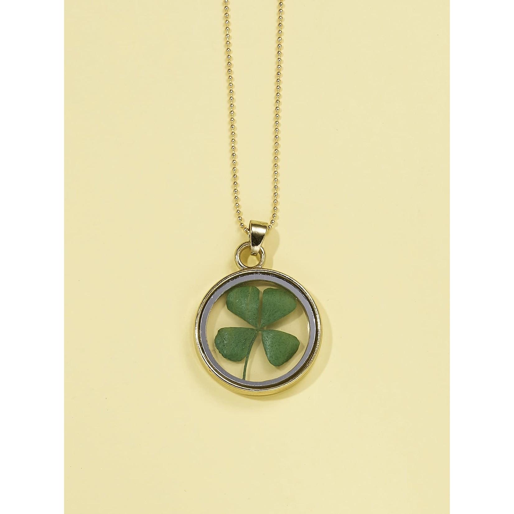 Necklace - Pressed Shamrock