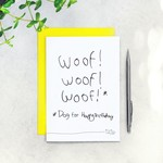 """Card - Woof (That's dog for """"Happy Birthday"""")"""