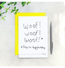 "Paper Plane Card - Woof (That's dog for ""Happy Birthday"")"