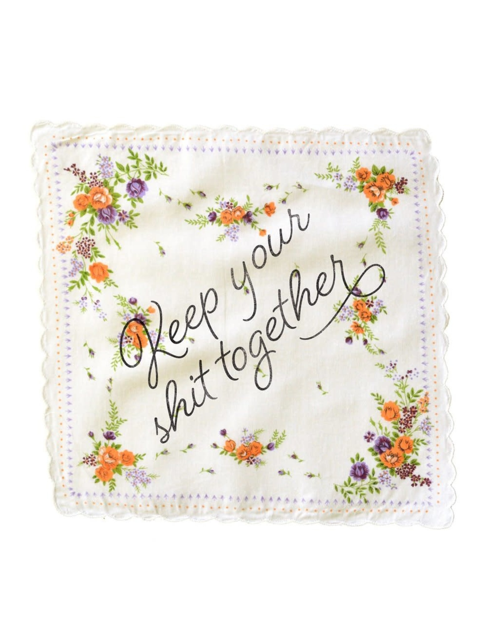 Bold Faced Handkerchief - Keep Your Shit Together