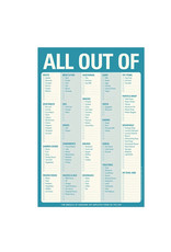 Notepad - All Out Of (Magnet Back)