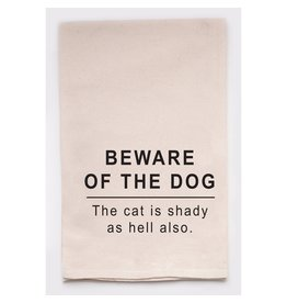 Ellembee Dish Towel - Beware Of The Dog