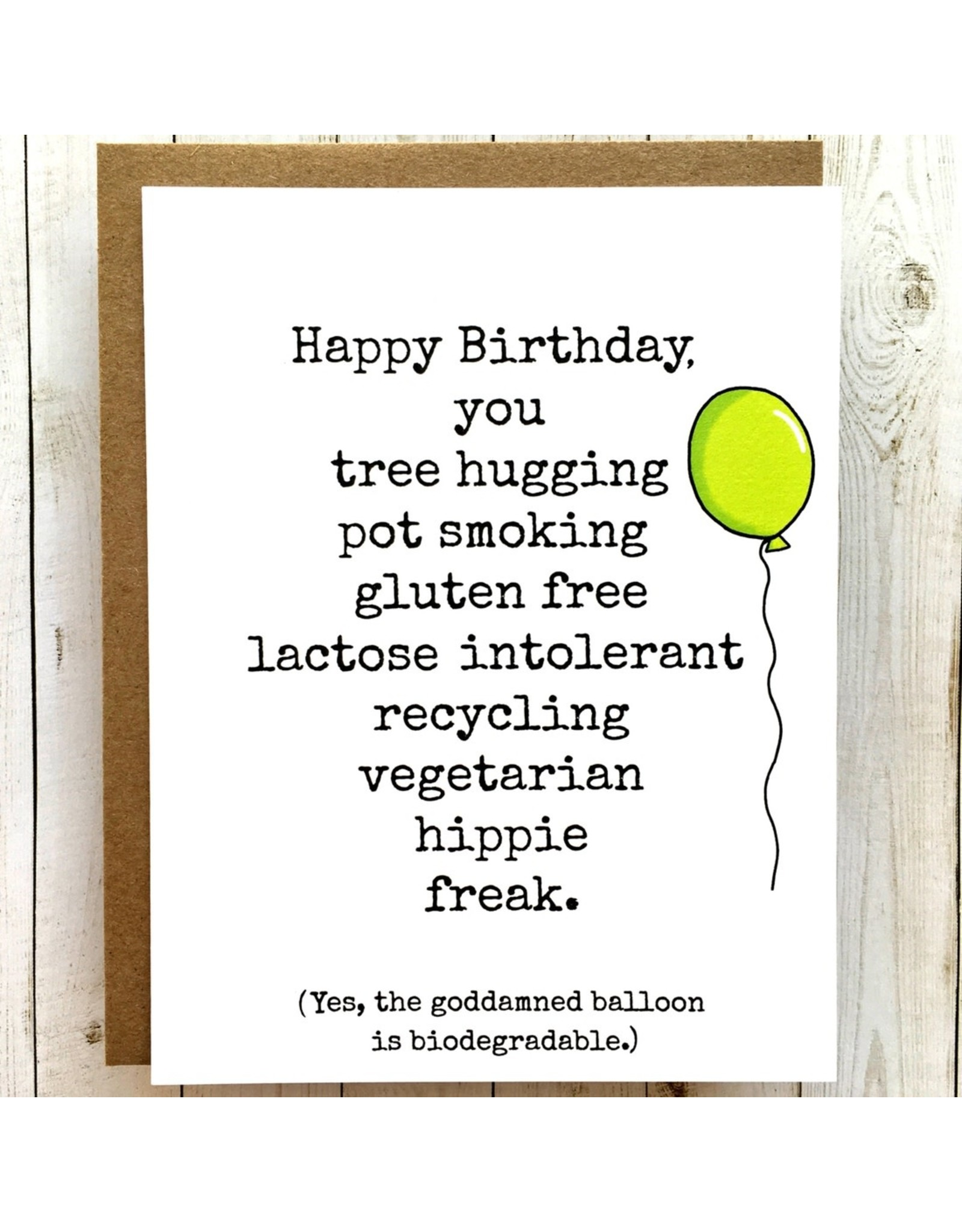 Bangs & Teeth Card - Happy Birthday You Hippie Freak