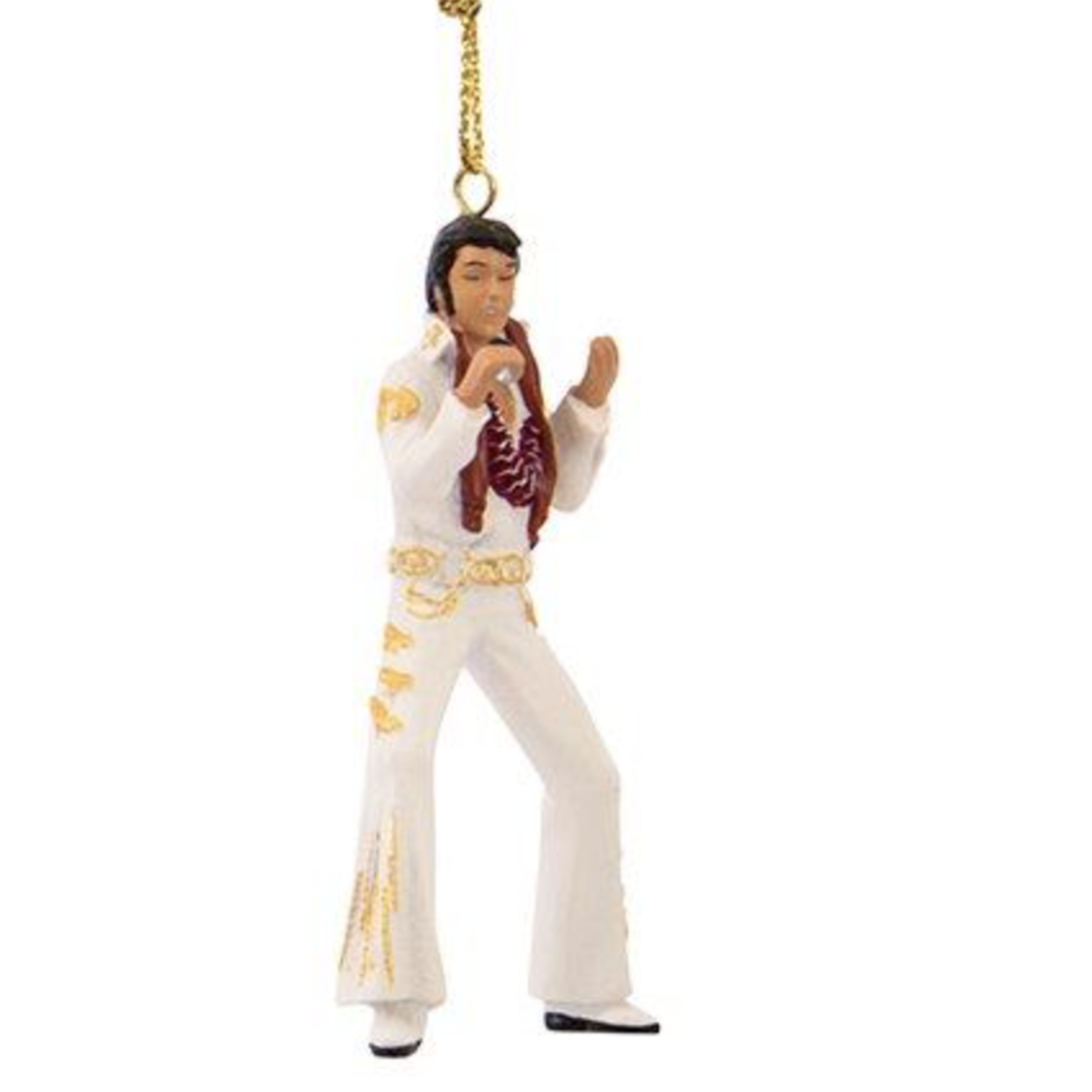 Ornament - Elvis - 2.5 inch White Outfit