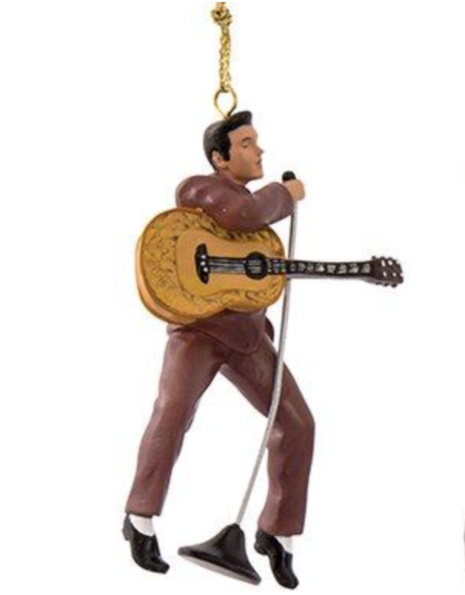 Ornament - Elvis - 2.5 inch Eggplant Outfit