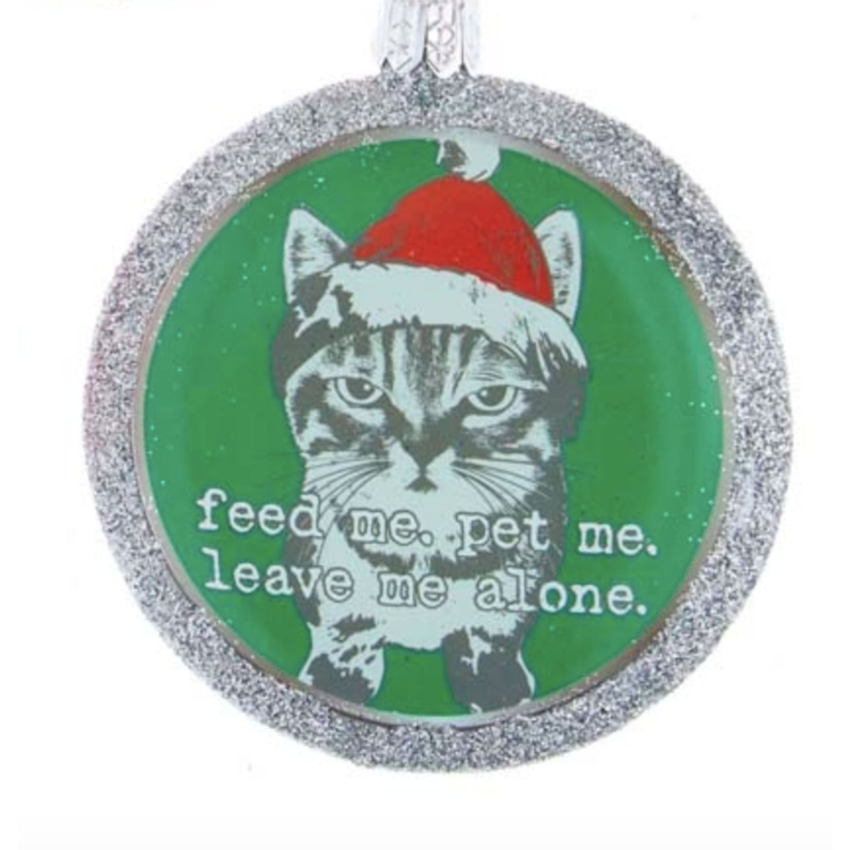 Ornament - Cat - Feed Me, Pet Me, Leave Me Alone
