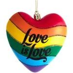 Ornament - Love is Love Rainbow Heart - LGBTQ