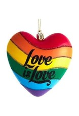 Ornament - Love is Love Rainbow Heart - LGBTQ