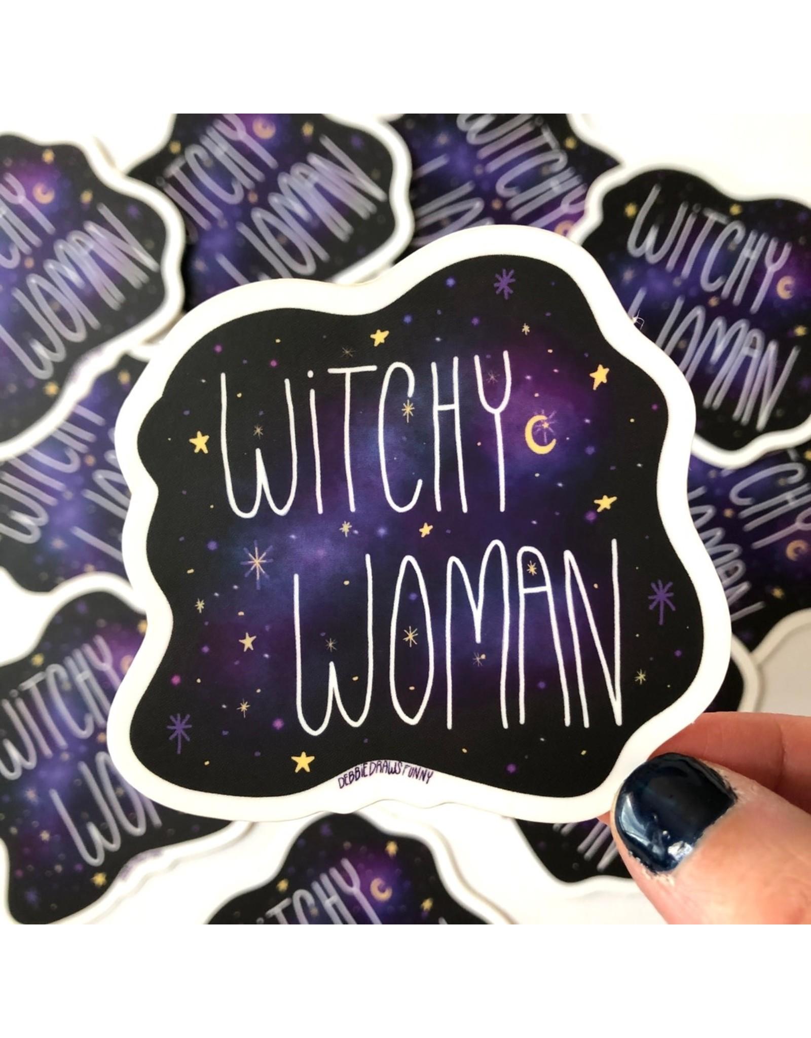 Debbie Draws Funny Sticker - Witchy Woman