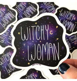 Debbie Draws Funny Sticker - Witchy Woman
