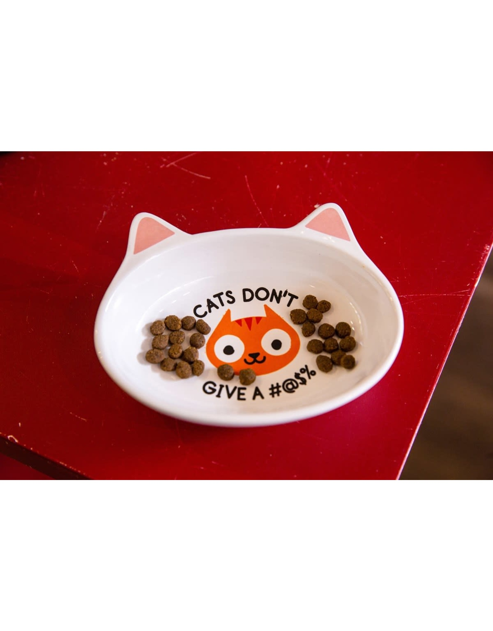 Bigmouth Cat Dish - Cats Don't Give A #@$%