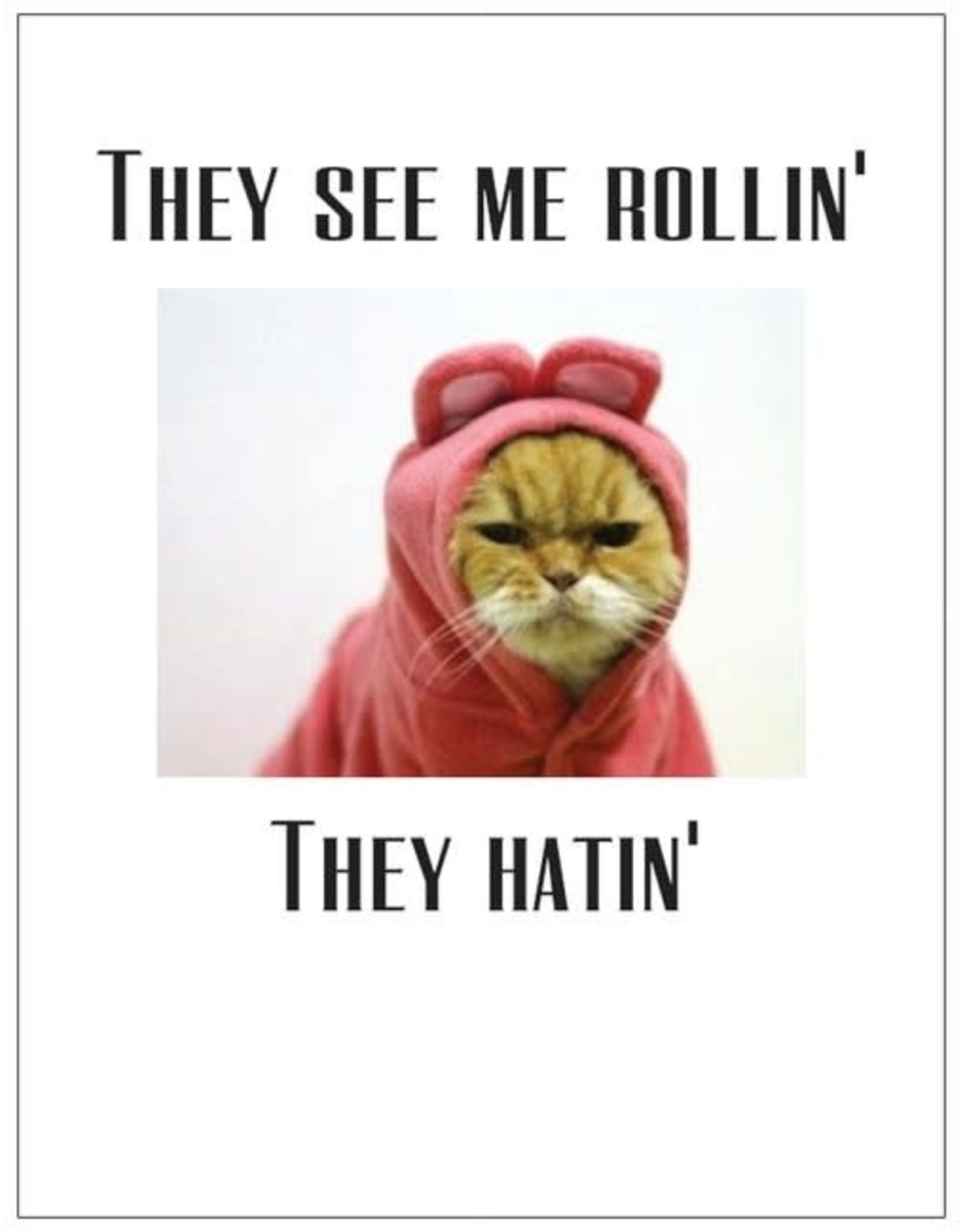 Card #057 - They See Me Rollin, Cat