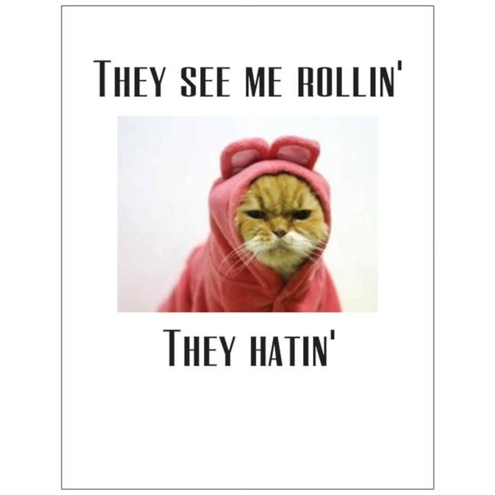 Bad Annie's Card #057 - They See Me Rollin, Cat