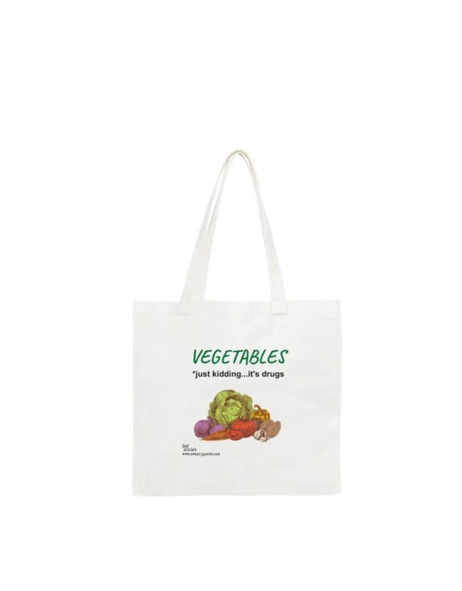 Tote - Vegetables. Just Kidding, It's Drugs.