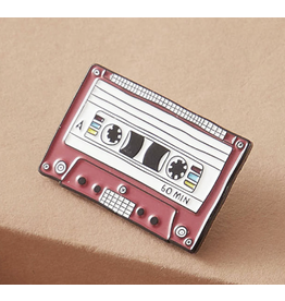Pin - Red Cassette Tape