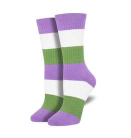 Socks (Larger sizes) - Genderqueer Pride