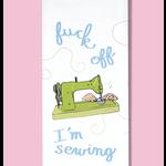 Dish Towel (Premium) - Fuck Off I'm Sewing