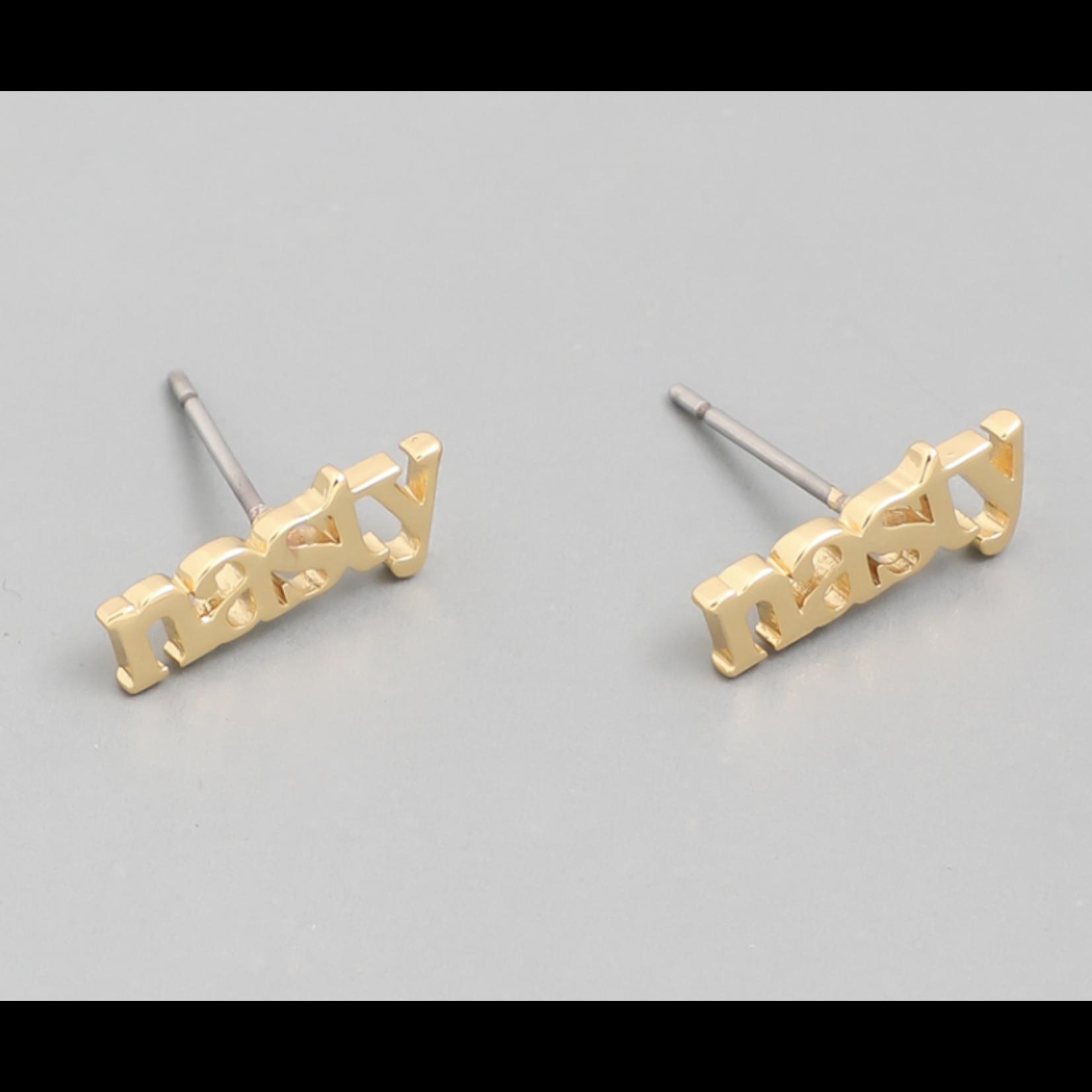 Earrings - Nasty - Gold