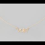Necklace - Vote - Gold