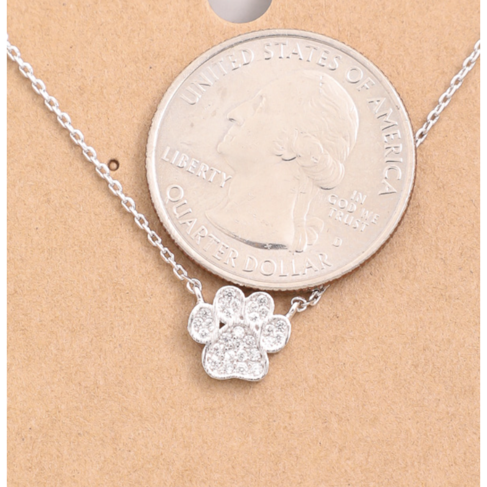 Necklace - Paw Print - Silver