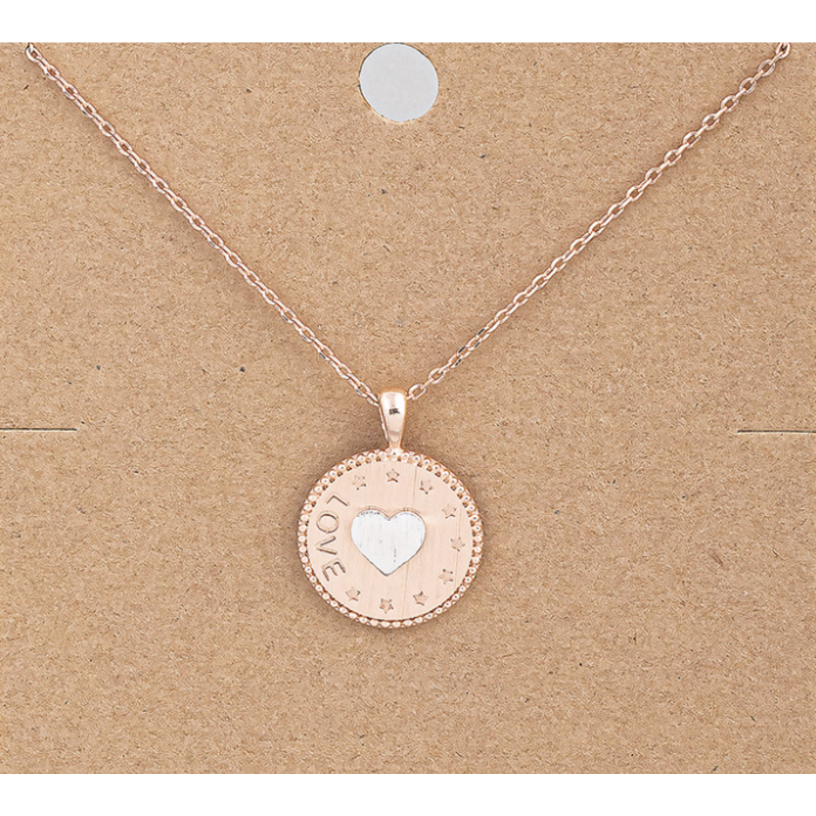 Necklace - Love Circle - Rose Gold Plated