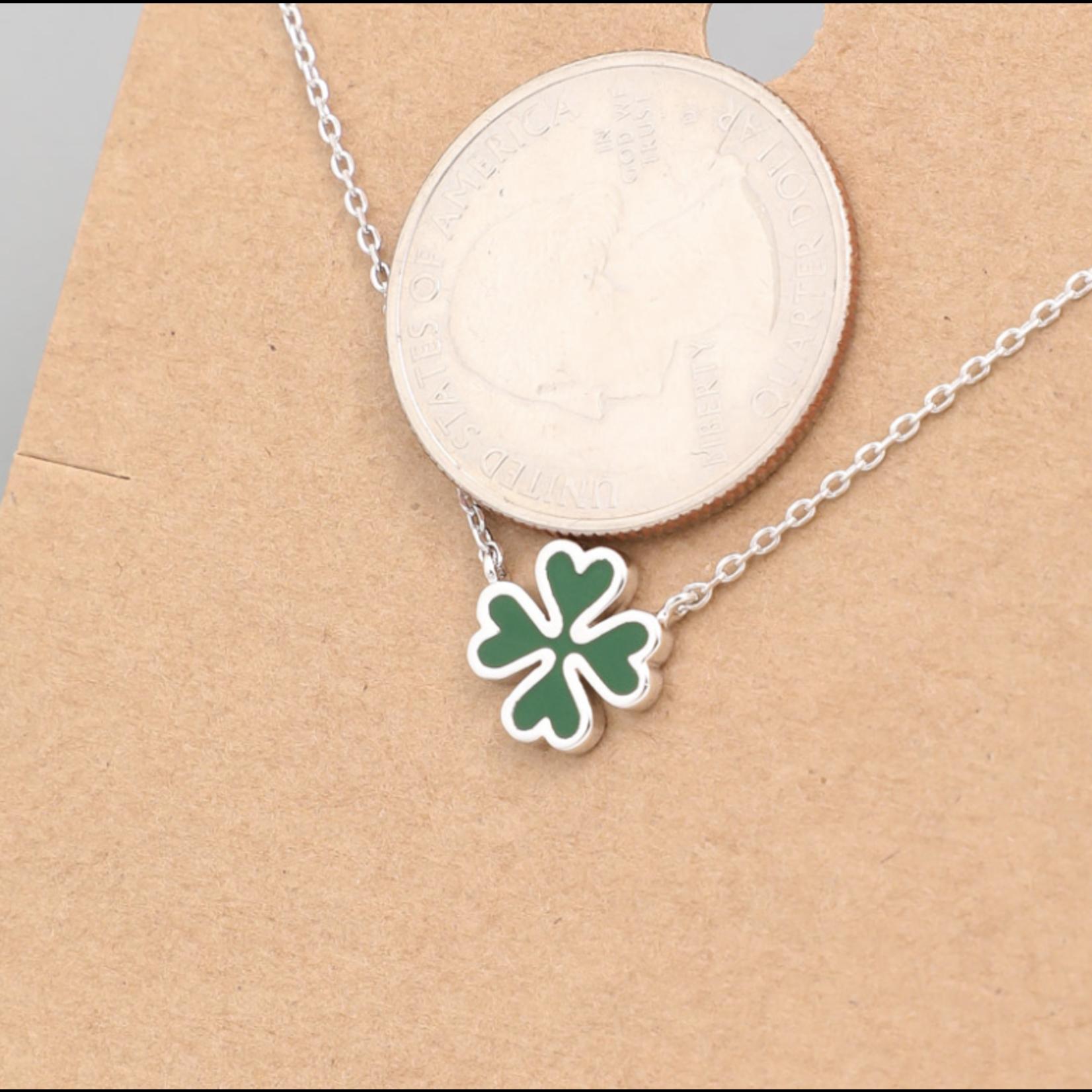 Necklace - Clover - Silver