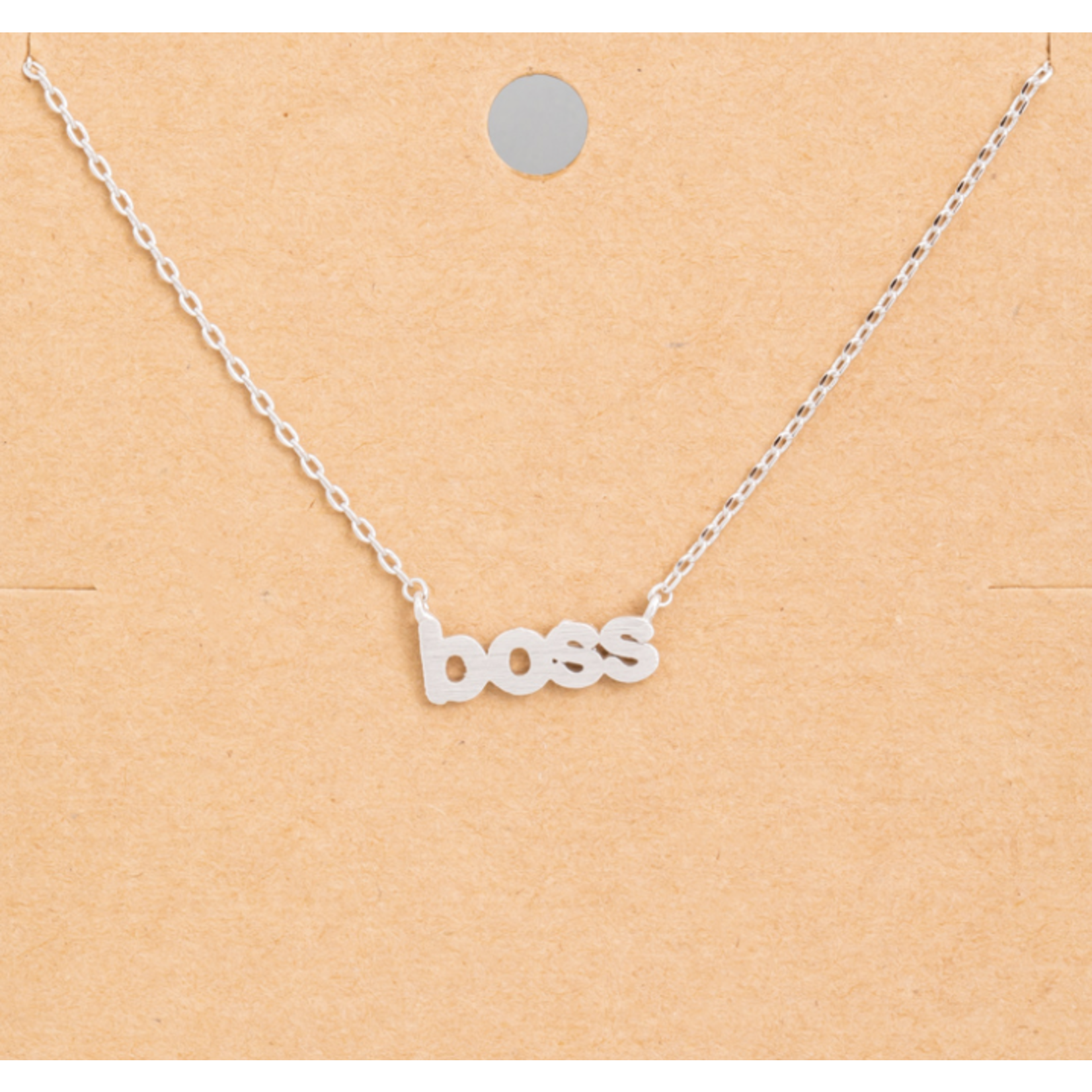 Necklace - Boss - Silver