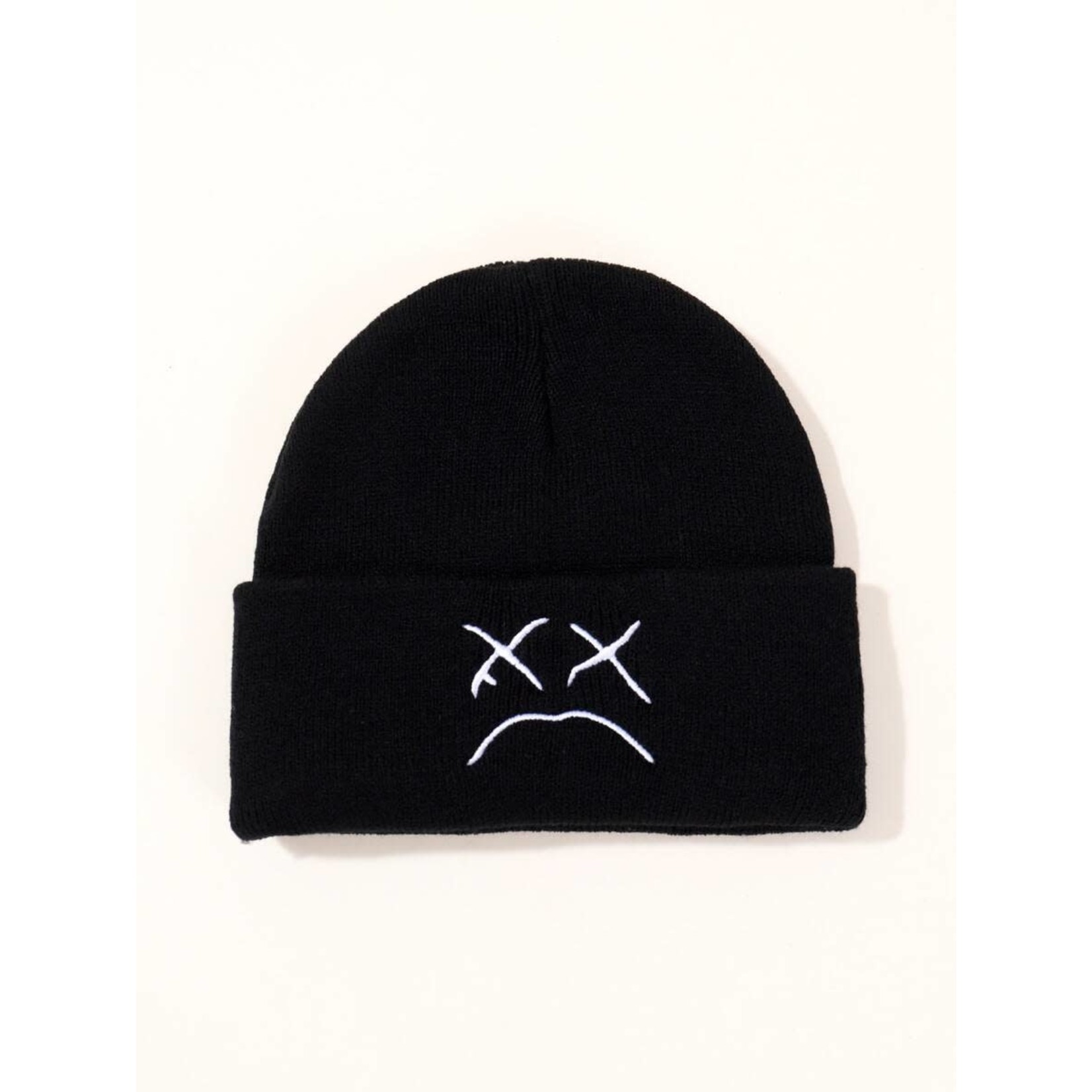 Hat (Beanie) - Frown Face