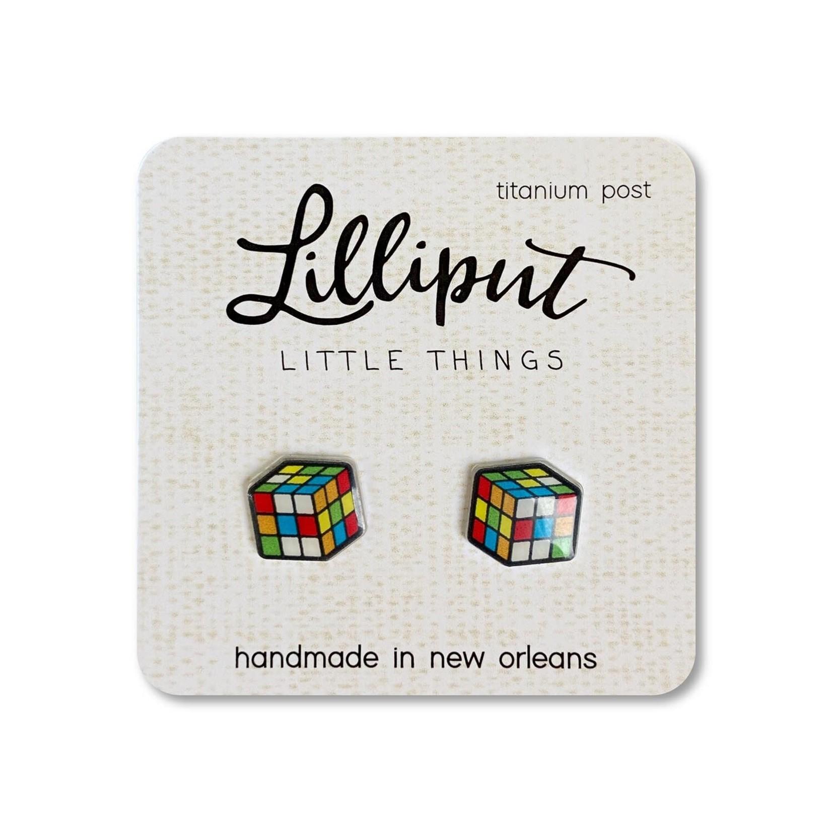 Earrings - Rubik's Cube